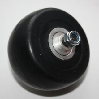 Колесо 75х40 мм с резиновой шиной 65А в сборе