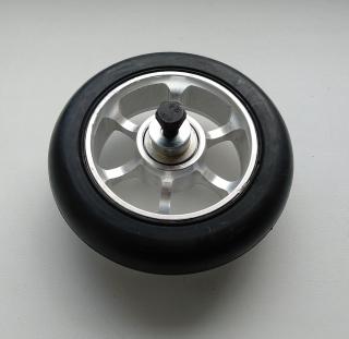 Колесо 100 мм с резиновой шиной  в сборе с дополнительной защитой подшипников,, #1