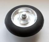Колесо 100 мм с резиновой шиной 75А в сборе