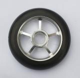 Колесо 100 мм с резиновой шиной 75А в сборе, #1